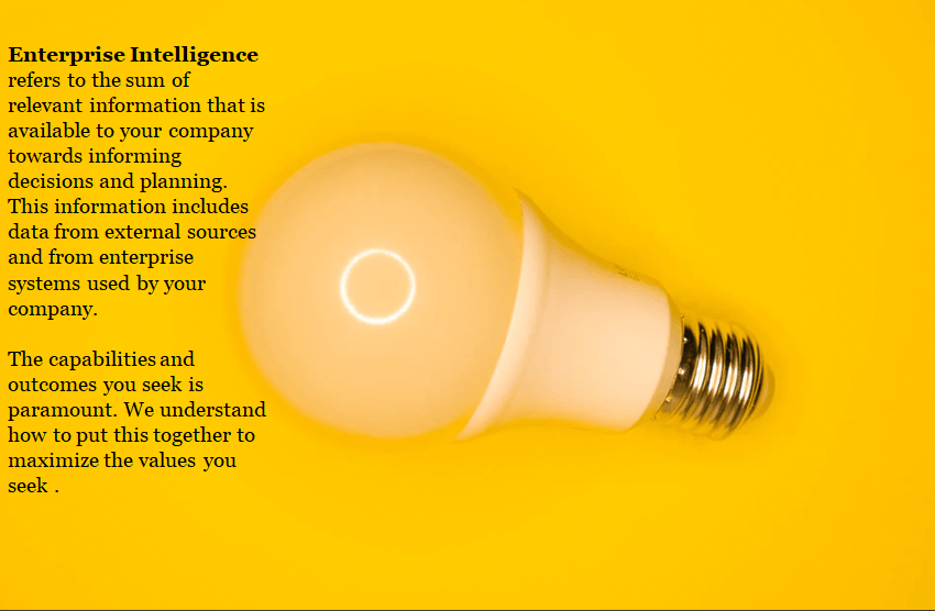 Enterprise-Intelligence-Solution